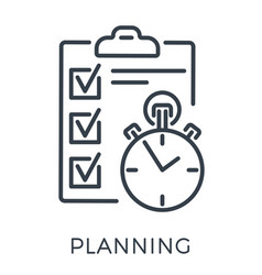 planning exam time management line icon vector image