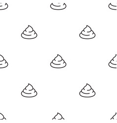 poop seamless pattern isolated on white background vector image