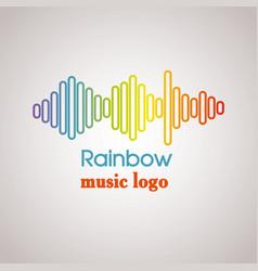 Rainbow music logo vector