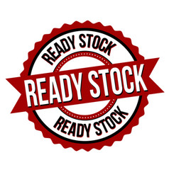 ready stock label or sticker vector image