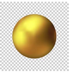 realistic gold metal sphere golden ball vector image