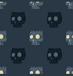 Robot skull mask seamless pattern vector