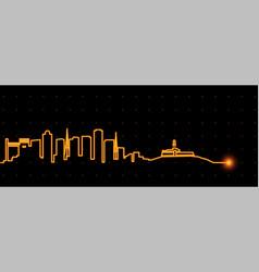 salvador light streak skyline vector image