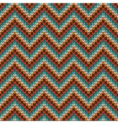 Seamless Zigzag knitting pattern vector image