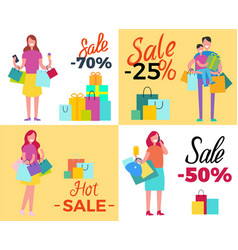 Set of sale propositions vector