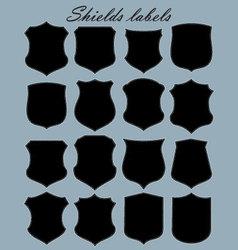 shields labels - set vector image