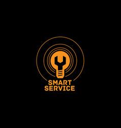Smart service logo vector