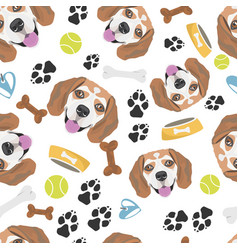 Smiling dog beagle vector