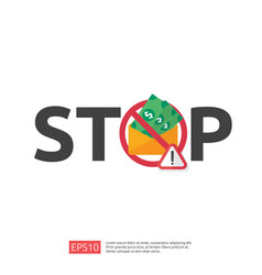 Stop and anti corruption concept business bribe vector