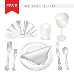 Table place setting vector