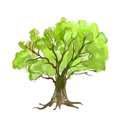 Tree hand drawn painted vector image