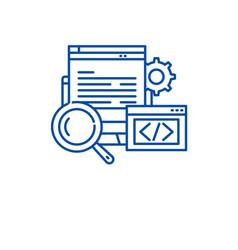 website development line icon concept website vector image
