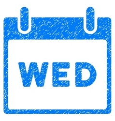 Wednesday calendar page grainy texture icon vector