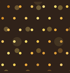 Brown background with golden polka style dots vector