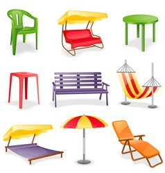 garden furniture icon set vector image