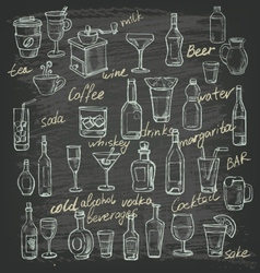 hand beverages vector image