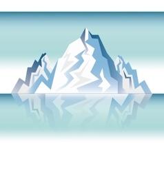 landscape snowy mountain design vector image vector image