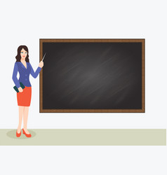 beautiful teacher vector image vector image