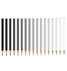 Grey pencils vector