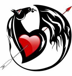 horse emblem vector image vector image