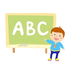 Kids Holding Giant Letters vector image