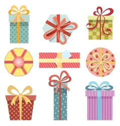 present boxes vector image vector image