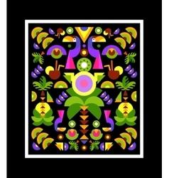 Tropical Applique print on t-shirt vector image