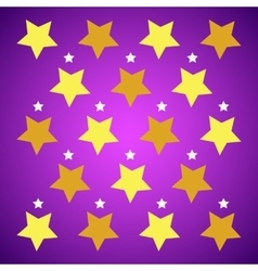 Yellow stars on purple background vector