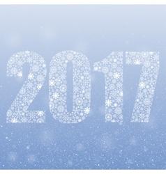 2017 Snowflakes Symbol year 2017 format vector image