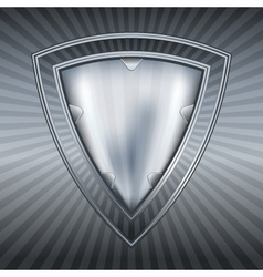 abstract steel shield vector image vector image