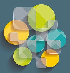 Background with cubes and squares elements vector image vector image