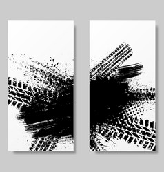 poster templates with grunge vector image