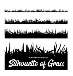 silhouette of grass of different heights vector image vector image