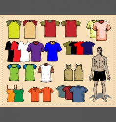 sport tees color vector image