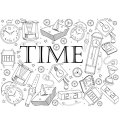 Time coloring book vector image