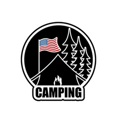 American Camping logo Emblem for accommodation vector image