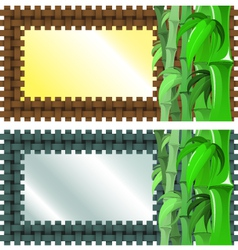 Bamboo Banner vector image
