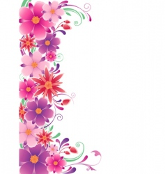 Floral background with ornament vector