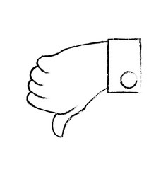 hand male unlike down vector image