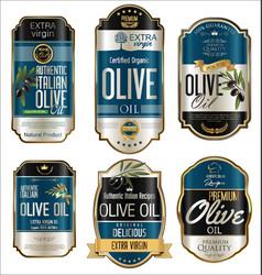 Olive oil retro vintage golden background vector