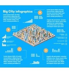 Urban infographics city vector image