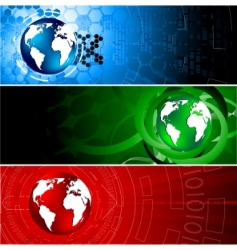 vector tech colorful banners vector image