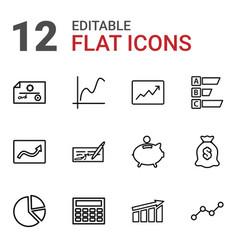 12 economy icons vector