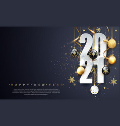 2021 happy new year happy new year banner vector image