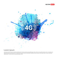 4g icon - watercolor background vector image