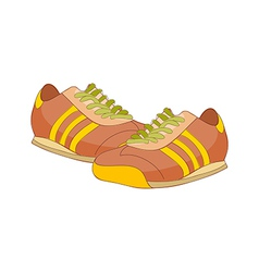 A pair of running shoes vector