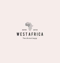 africa tech digital logo hipster vintage retro vector image
