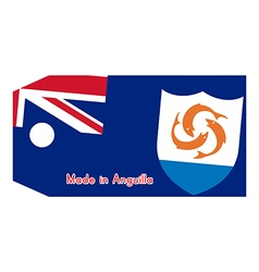 Anguilla flag on price tag vector image