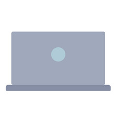 Back of laptop icon flat style vector