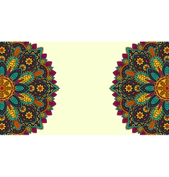 Banner with round floral ornament vector